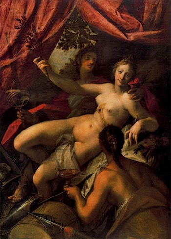 Allegory of Peace, Art and Abundance by Hans von Aachen
