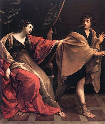 Joseph and Potiphars' Wife by Guido Reni
