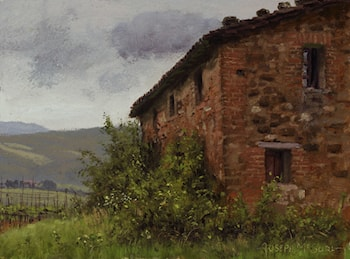 Plein Air - Study of Brick and Stone by Joseph McGurl