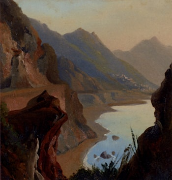 A View Of The Amalfi Coast Near Naples by Jean-Charles Joseph Remond