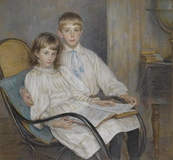 Children Sitting by Louise Breslau