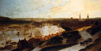 View Of Newcastle On The River Tyne From St Ann's by William Daniell, R. A.