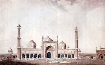 The Jama Masjid, Delhi by William Daniell, R. A.