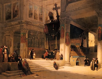Followers Inside An Eastern Church by Fabius Germain Brest
