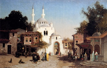 Outside The Mosque by Fabius Germain Brest