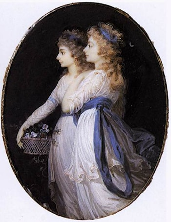 Georgiana, Duchess of Devonshire, with Lady Elizabeth Foster by Jean-Urbain Guerin