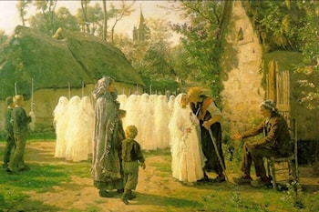 The Communicants by Jules-Adolphe Breton