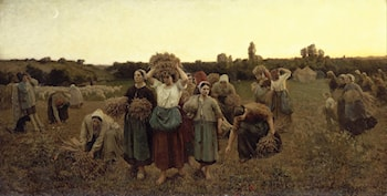 The Recall of the Gleaners by Jules-Adolphe Breton