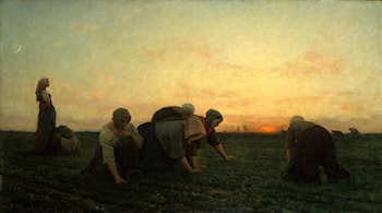 The Weeders by Jules-Adolphe Breton