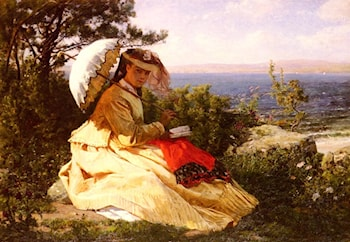 The Woman with the Parasol by Jules-Adolphe Breton
