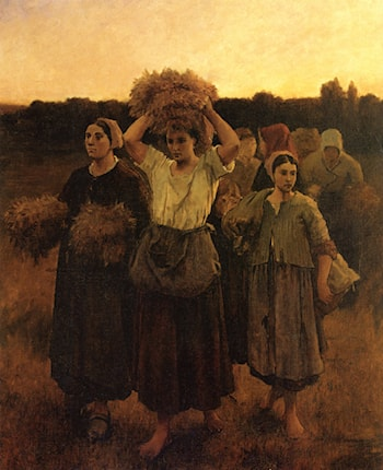 The Recall of the Gleaners (study) by Jules-Adolphe Breton