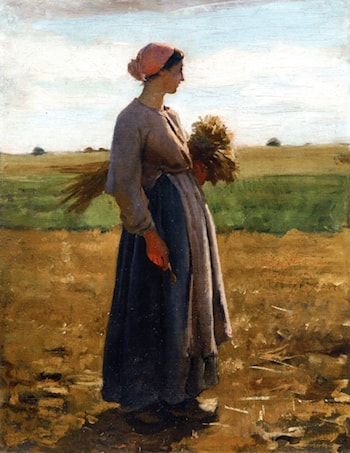 Young Woman in the Fields by Jules-Adolphe Breton