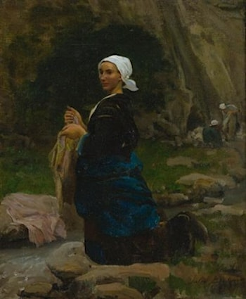 Brittany Washerwoman by Jules-Adolphe Breton