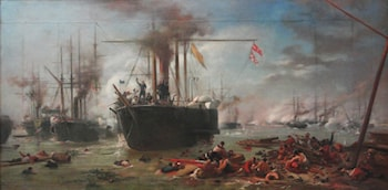 Study for the Naval Battle of Riachuelo by Victor Meirelles