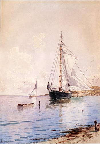 Drying the Main at Anchor by Alfred Thompson Bricher