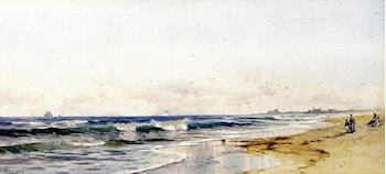 Far Rockaway Beach by Alfred Thompson Bricher