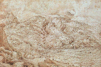 Landscape of the Alps by Pieter the Elder Bruegel