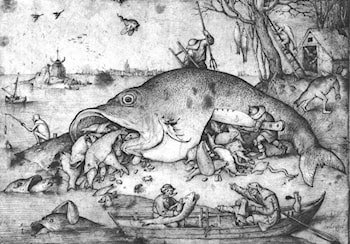 Big Fishes Eat Little Fishes by Pieter the Elder Bruegel