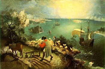 Landscape with the Fall of Icarus by Pieter the Elder Bruegel