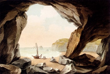 A View From A Cave Near Tenby, South Wales by John Warwick Smith