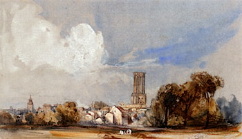 Aix, Bouche Du Rhone by William Callow