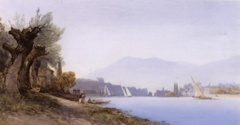 A View Of Geneva Harbour by William Callow