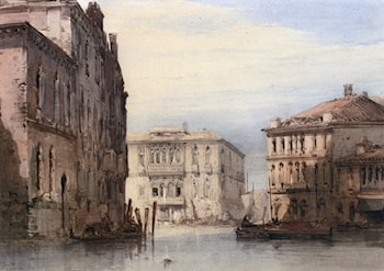 View Of The Ca Foscari on Grand Isle by William Callow