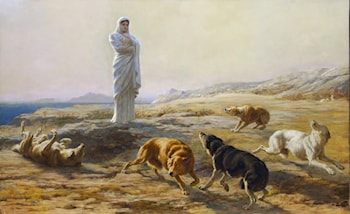 Pallas Athena and the Herdsman's Dogs by Briton Riviere