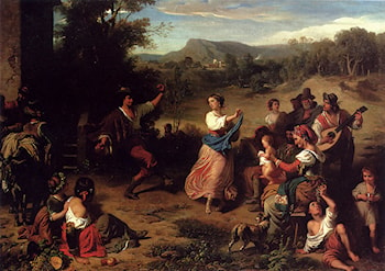The Fiesta by Louis-Leopold Robert