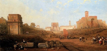 The Approach To The Forum by David Roberts