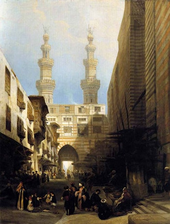 A View in Cairo by David Roberts