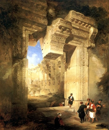 The Gateway of the Great Temple at Baalbec by David Roberts