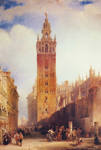 The Moorish Tower at Seville, called the Giralda by David Roberts