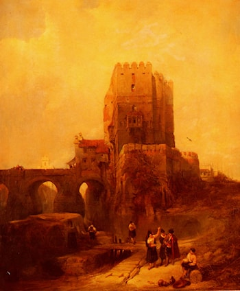 Moorish Tower on the Bridge at Cordova by David Roberts