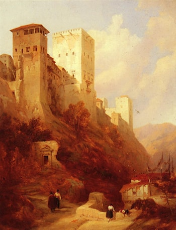 Tower Of Comaris, Alhambra, Granada by David Roberts