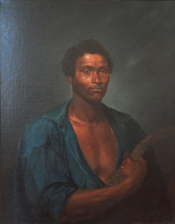 "Portrait of the intrepid sailor Simon, coal worker of the steamboat Pernambuco"""" by Jose Correia de Lima"