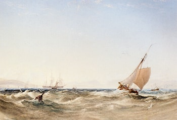 Shipping Off The Coast by Anthony Vandyke Copley Fielding