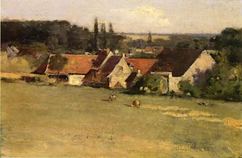 Farmhouse at Grez by Theodore Robinson