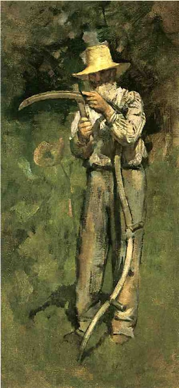 Man with Scythe by Theodore Robinson