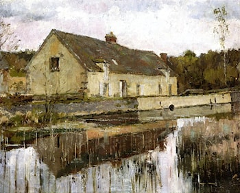 On the Canal by Theodore Robinson