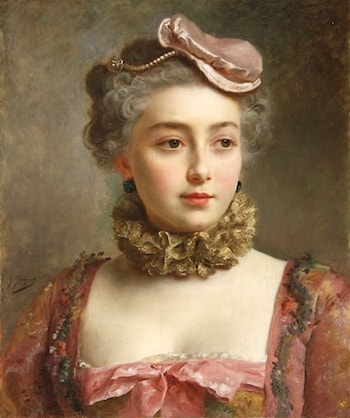 Portrait of a Young Lady by Gustave Jean Jacquet