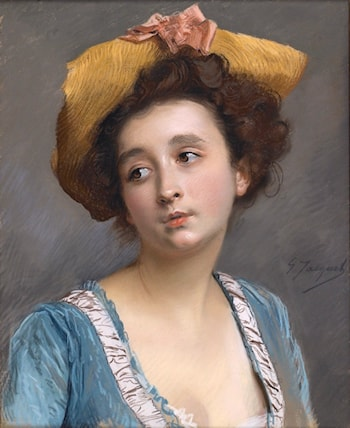 The Belle in Blue by Gustave Jean Jacquet