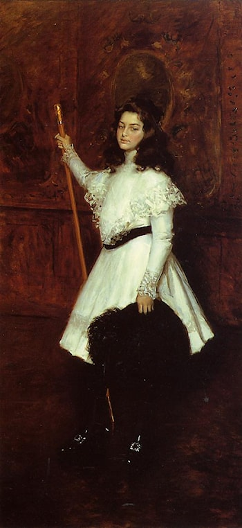 Girl in White by William Merritt Chase