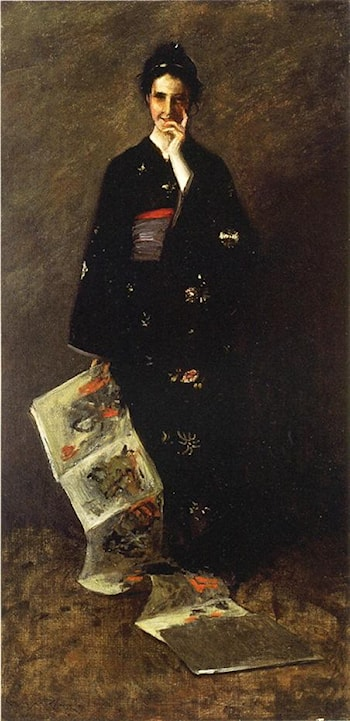 The Japanese Book by William Merritt Chase