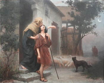 The Departure of Jacob by Rodolfo Amoedo