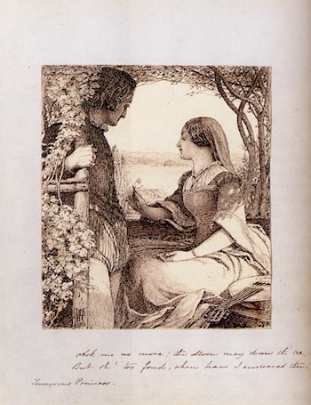 The Princess, Tennyson ­ Ask Me No More by John Dawson Watson