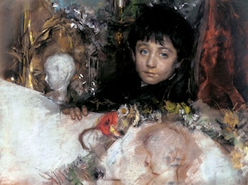 Portrait Of A Young Boy by Antonio Mancini