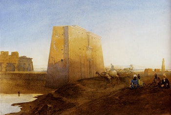 Arabs By The Ruins At Luxor by William Edward Dighton