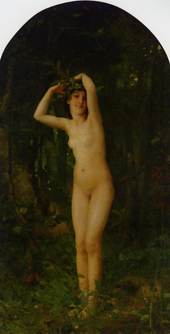 Nude in Forest by Aime-Nicolas Morot