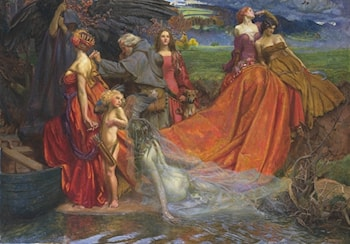 Now is Pilgrim Fair Autumn's Charge by John Byam Liston Shaw